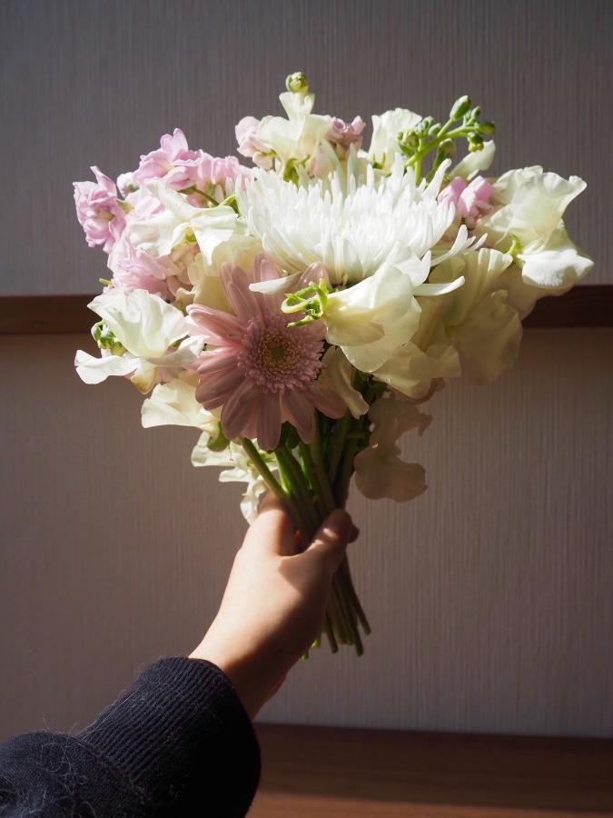 ロスフラワーで花束を