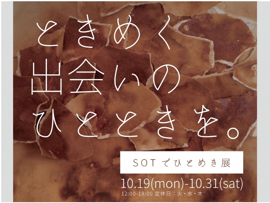 SOTでひとめき展 [2020 10.19-10.31]